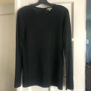 Valette Black 100% Wool lightweight sweater